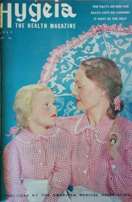 Cover of Hygeia magazine showing a mother and daughter
