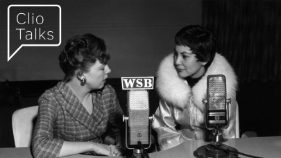 Interview in WSB studio. (M004_0430, WSB Radio Records, Popular Music and Culture Collection, Special Collections and Archives, Georgia State University Library)