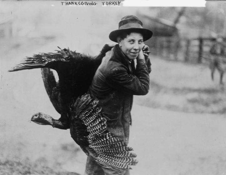 """Thanksgiving turkey,"" ca. 1910 and ca. 1915. (Bain News Service/Library of Congress   Public domain)"